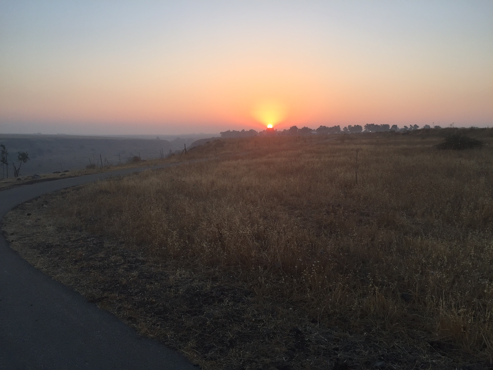 Sunrise at the Golan Heights